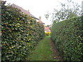 SE9855 : Footpath from the church, Kirkburn by Jonathan Thacker