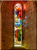 NY5563 : Lanercost Priory Church, Stained Glass Window by David Dixon