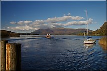 NY2619 : Lodore Landing Point by Mike Harris
