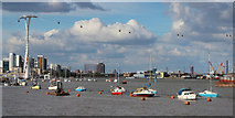 TQ3979 : River Thames at North Greenwich by Oast House Archive