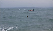 SZ6497 : Inshore rescue boat and swimmer off Southsea by N Chadwick