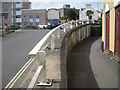SX9472 : Crash barrier and retaining wall, Fore Street by Robin Stott