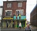 SJ9494 : Yellow scaffolding by Gerald England