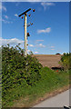 SU4835 : Replacement of overhead 11KV electricity lines at Worthy Down Camp by Peter Facey