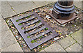 J5950 : Union Foundry grating cover, Portaferry by Albert Bridge