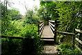 SP1718 : Footbridge across the Windrush by Graham Horn