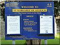 TQ0283 : St Margaret of Antioch, Iver Heath, Noticeboard by Alexander P Kapp