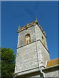 SY7699 : St Martin, Cheselbourne: tower by Basher Eyre