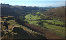 NY2101 : Upper Eskdale from near Hardknott Castle by Karl and Ali
