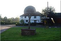 TG1508 : Bawburgh Village sign by N Chadwick