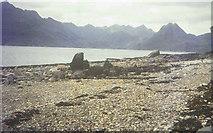 NG5113 : The beach at Elgol in 1967 by John Baker