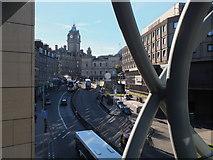 NT2574 : Leith Street from the pedestrian bridge by Jim Barton