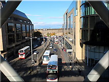NT2574 : View north down Leith Street by Jim Barton