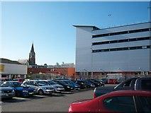 J2664 : The car park of the Bow Street Shopping Mall, Lisburn by Eric Jones