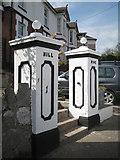 SX9473 : Gate pillars, Hill Rise, Winterbourne Road by Robin Stott