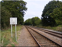 TM3863 : Railway Line at Saxmundham Junction by Geographer