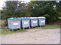 TM3569 : Peasenhall Recycling Bins by Adrian Cable