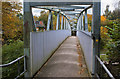 SJ5581 : The footbridge at Runcorn East Railway Station by Ian Greig