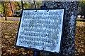 NT2440 : Commemorative plaque, Hay Lodge Park Peebles by Jim Barton