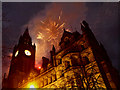 SJ8398 : Fireworks, Manchester Town Hall by David Dixon