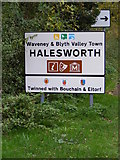 TM3876 : Halesworth Town sign by Adrian Cable