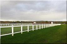 SP7047 : Towcester Racecourse jump by Philip Jeffrey