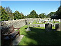 ST5707 : Melbury Osmond Churchyard (1) by Basher Eyre