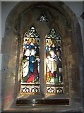 ST5707 : Melbury Osmond Church: stained glass window  (iii) by Basher Eyre