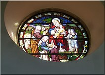 ST5707 : Melbury Osmond Church: stained glass window  (v) by Basher Eyre