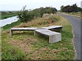 TF0871 : Three-branched bench, Water Rail Way by Oliver Dixon