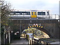 TQ5275 : Railway Bridge over Thames Path near Dartford by David Anstiss