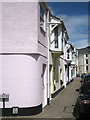 SX9372 : Terrace of houses with oriel windows, Strand by Robin Stott