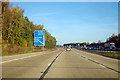 SU4416 : M27 - approaching junction 5 by Robin Webster