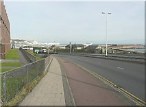TR3140 : Archcliffe Road (A20), Dover by John Baker