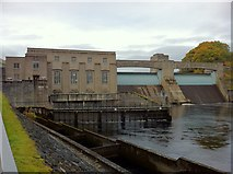 NN9357 : Pitlochry dam and power station by Andrew Abbott