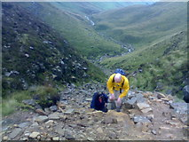 SK1087 : Near top of Grindsbrook Clough, Edale by Chris Morgan