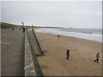 NZ3573 : Ramp for beach at Whitley Bay Northern Promenade by peter robinson