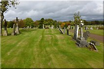 NS5769 : St Kentigern's R.C. Cemetery by Lairich Rig