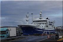 HU4642 : Irish fishing vessel Voyager at Holmsgarth, Lerwick by Mike Pennington