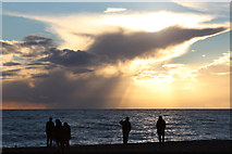 TQ3103 : Sunset over Brighton Beach by Oast House Archive