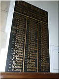SY7190 : St Michael, Stinsford: Roll of Honour by Basher Eyre