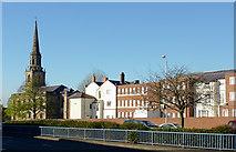 SO9198 : View across Ring Road St John's, Wolverhampton by Roger  Kidd