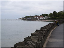 J4080 : View from the coastal path towards the Royal North of Ireland Yacht Club at Cultra  by Eric Jones