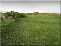 NU2422 : Coastal Path beside Dunstanburgh Castle Golf Course by Chris Heaton