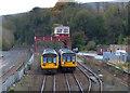 NY9464 : Passing trains near Hexham by JThomas