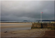 SD4578 : Flying the flag on Arnside Pier by Karl and Ali