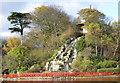 TA0389 : Pagoda and cascade, Peasholm Island by Pauline E