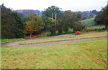 SO8480 : The zig-zag path at Cookley Playing Fields, Cookley by P L Chadwick