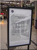 TQ2878 : London Victoria station: notice of memorial ceremony to the Unknown Warrior by Christopher Hilton
