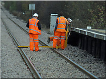 TA0623 : Track Gauging at Barrow Haven Station by David Wright